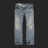 アバクロ メンズ ジーンズ Remsen Low Slung Slim Straight Destroyed